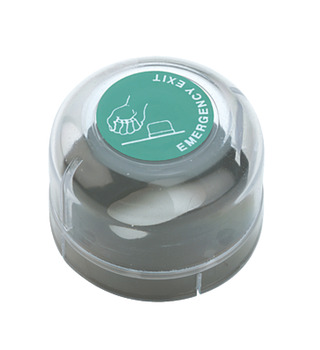 Emergency Dome Cover, for Use with Cylinder Thumbturn, Europrofile or Oval, Plastic