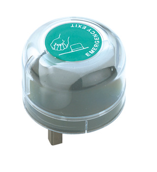 Emergency Dome Cover, for use with Mortice Night Latch or Panic Lock, Plastic