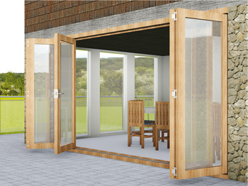 End Meeting Set, Mortice, for Folding Patio Doors, Slido Fold