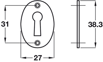 Escutcheon, Face Fixing