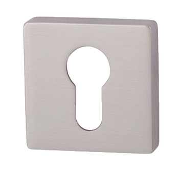 Escutcheons, for Euro Profile Cylinder, Square, 52 x 52 mm, Zinc Alloy, RO11
