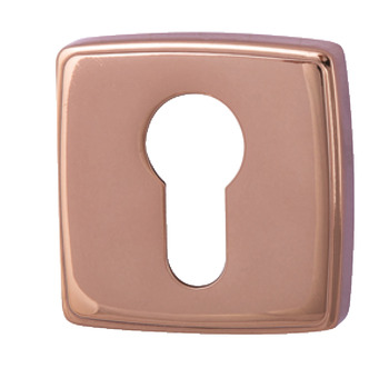 Escutcheons, for Euro Profile Cylinder, Square, 52 x 52 mm, Zinc Alloy, RO13