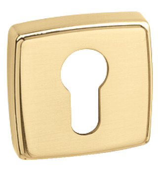 Escutcheons, for Euro Profile Cylinder, Square, 52 x 52 mm, Zinc Alloy