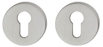 Escutcheons, for FSB Lever Handles, Euro Profile Cylinder, Ø 55 mm, 304 Stainless Steel