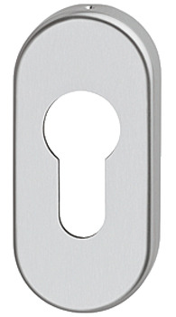 Escutcheons, for FSB Lever Handles, Euro Profile Cylinder, Oval Rose, Aluminium