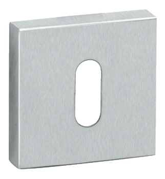 Escutcheons, for Startec Lever Handles, Square, Standard Keyway, Stainless Steel