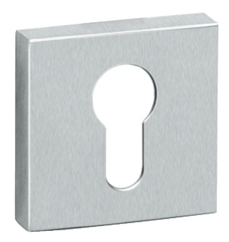 Escutcheons, for Startec Lever Handles Tec/Metro/Vogue, Square, Euro Profile Cylinder, 304 Stainless Steel