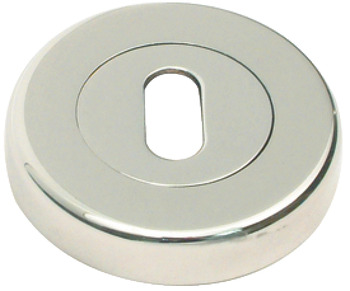 Escutcheons, for Zinc Alloy Lever Handles, Standard Keyway, Ø 53 mm
