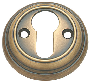 Escutcheons, Plain, Profile Cylinder, Ø 56 mm, Brass