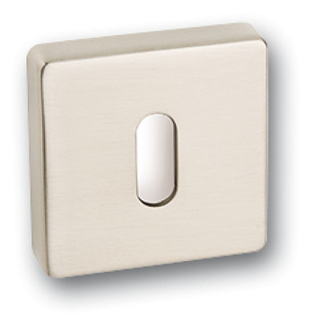 Escutcheons, Standard Keyway, Square, 52 x 52 mm, Zinc Alloy
