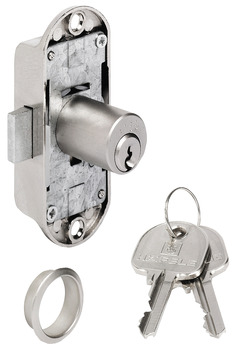 Espagnolette Lock, Piccolo Nova Case, Backset 15 mm with Ø 18 mm Cylinder