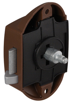 Espagnolette Lock, with Push Button Locking, Backset 25 mm, Operated from One Side