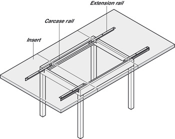 Extending Table Runners, for Tables with Frames, Load Capacity 60 kg
