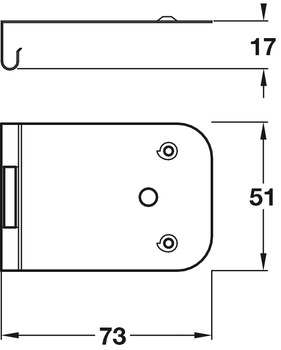 Extra Clip Connector, for Pivot Sliding Cabinet Doors, Accuride 1432