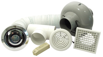 Extractor Fan Set, Professional Showerlite Set