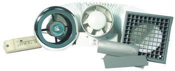 Extractor Fan Set, Shower Lite, Timer Version, Polished Chrome