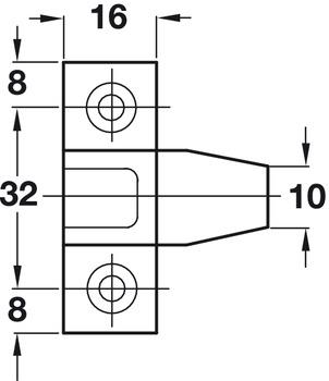 Hafele Fasteners Set Push-fit KEKU 262.50.340