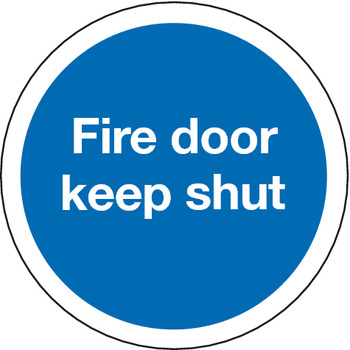 Fire Door Mandatory Sign, 1 mm Thick, Rigid Plastic