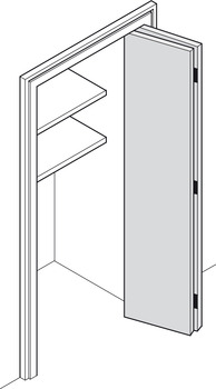 Fitting Set, for Folding Cabinet Doors, Hawa-Multifold 30/W