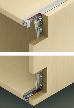 Fitting Set, for Sliding Cabinet Doors, Eku Regal-B 25 H Forslide