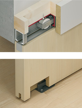 Fitting Set, for Sliding Interior Doors, Hawa-Junior 80/B (Modified)