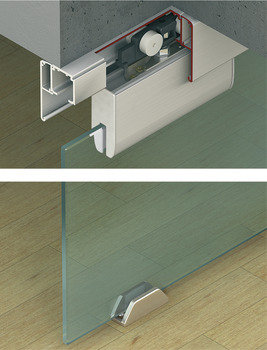 Fitting Set, for Sliding Interior Glass Doors, Slido Classic