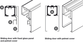 Fixed Panel Profile, for Sliding Glass Interior Doors, SV-A200