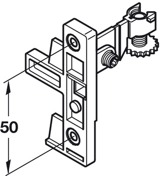 Fixing Component Set, for Moulded Plastic Drawer System, Plastic