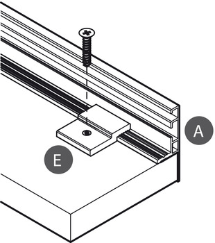 Fixing Plate, Iron, for Horizontal Profile, Flat Gola