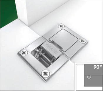 Flap Hinge, 90°, for Flaps up to 28 mm Thickness, Tiomos