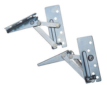 Flap Hinge, Swing Up, Sprung Right Hand or Both Sides, Steel
