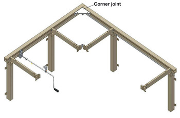Flexi Corner Set, for Flexi Height Adjustable Worktop System, Ropox