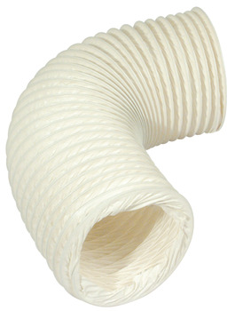 Flexi Hose, Flame Retardant PVC, White