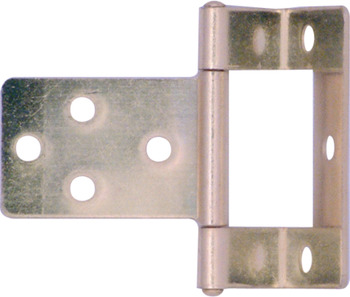 Flush Hinge, Cranked, Medium Duty, Steel