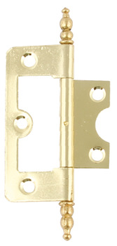 Flush Hinge, Finial, Steel/Zinc Alloy