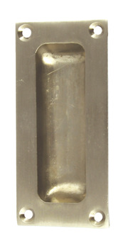 Flush Pull Handle, 42 x 90 mm, Brass or Zinc Alloy