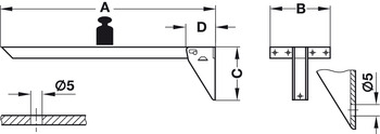 Folding Bracket Table With Hinge Mechanism Tikla