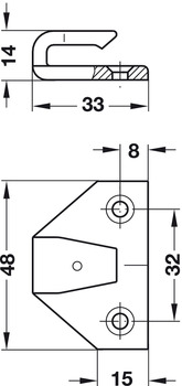 Frame Component, for Screw Fixing, ASR, Keku