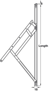 Friction Hinge, Heavy Duty, for Top Hung or Side Hung Windows, Loadpro