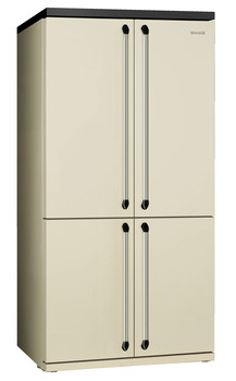 Fridge-Freezer, Freestanding, American Style, Four Door with Convertible Compartment, Total Capacity 610 litres, Smeg Victoria