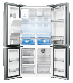 Fridge-Freezer, Freestanding, American Style, Four Door with Convertible Compartment, with Ice Maker, Smeg