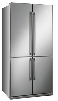 Fridge-Freezer , Freestanding Four Door with with MultiZone Compartment, Smeg