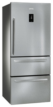 Fridge-Freezer , Freestanding, Two Door and Two Drawer, Total Capacity 600 Litres, Smeg