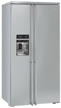 Fridge Freezer, Total Capacity 616 Litres, Side by Side, Fully Clad, Smeg American Style