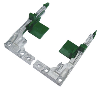 Front Fixing Clips, for Narrow Drawers, for Dynapro Drawer Runers, Steel