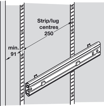 Full Extension Runners, Ball-Bearing Cage, for Filing Frames