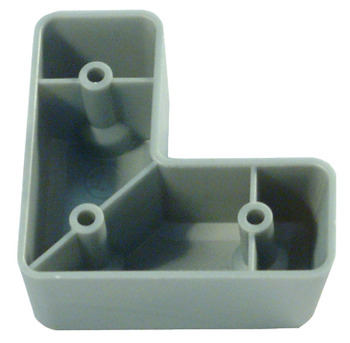 Furniture Foot, 24 mm High, Silver Coloured Plastic