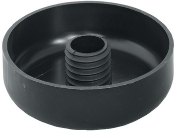Furniture Glide, Ø 80 mm, Anthracite Plastic
