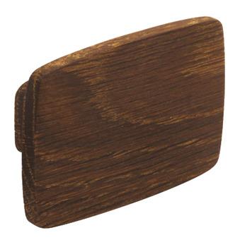 Furniture knob, Oak, Height 52 mm, Width 74 mm, Quatro