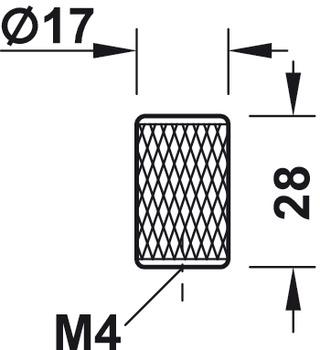 Furniture knob, Zinc Alloy, Ø 17 mm, Graf